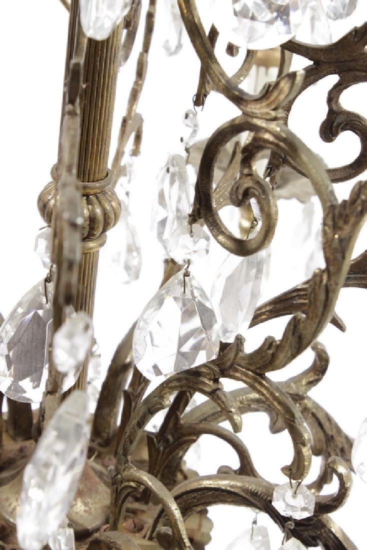 Crystal and Brass Chandelier - 2