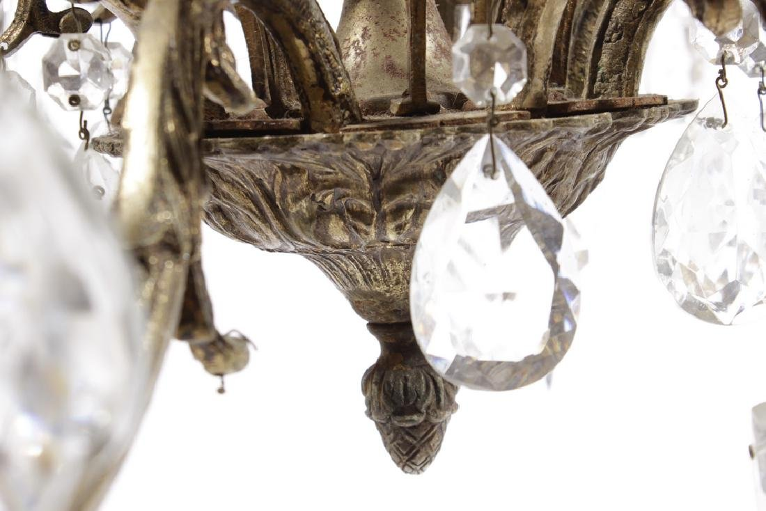 Crystal and Brass Chandelier - 3