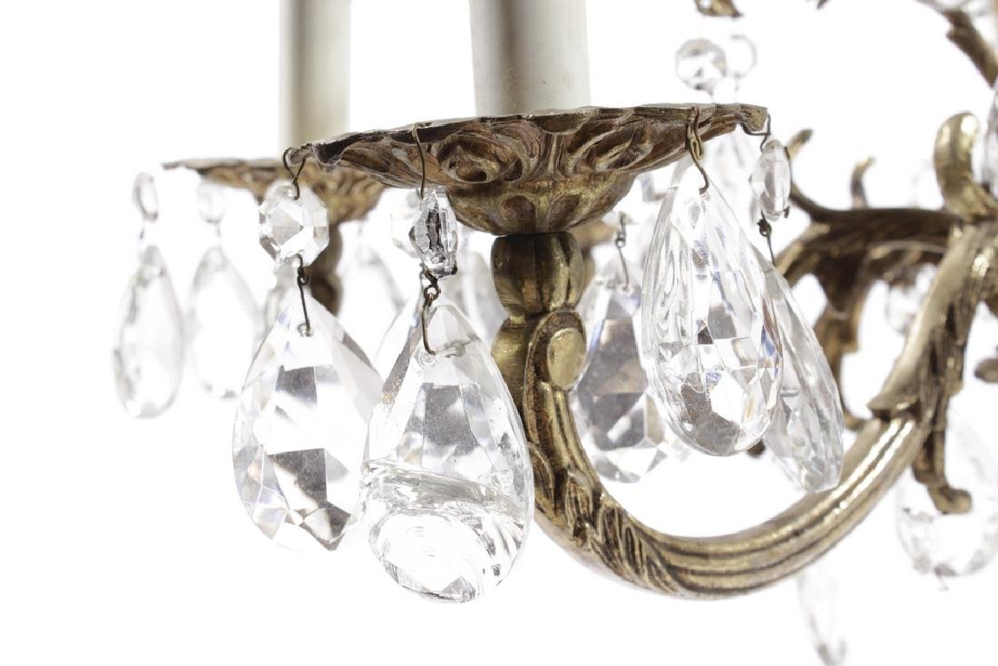 Crystal and Brass Chandelier - 4