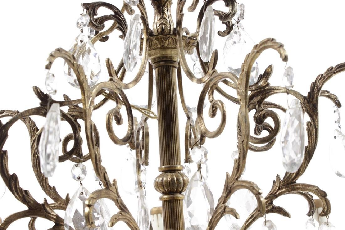 Crystal and Brass Chandelier - 5