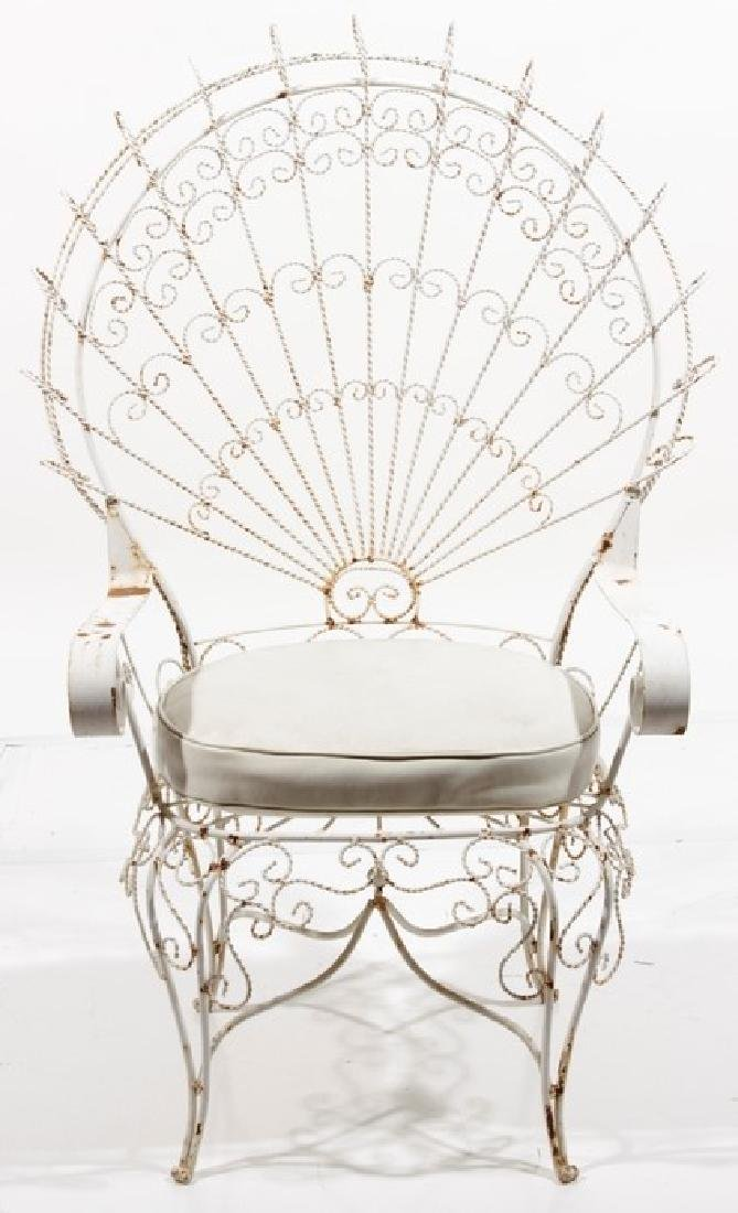 Peacock Fan Garden Armchair