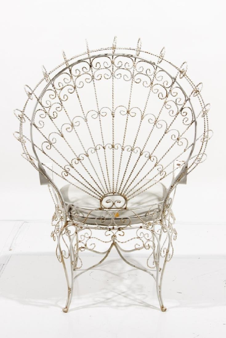 Peacock Fan Garden Armchair - 4
