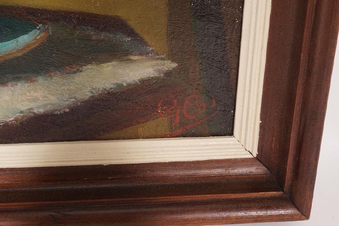 Impressionist Painting, Orange flowers in Vase - 3