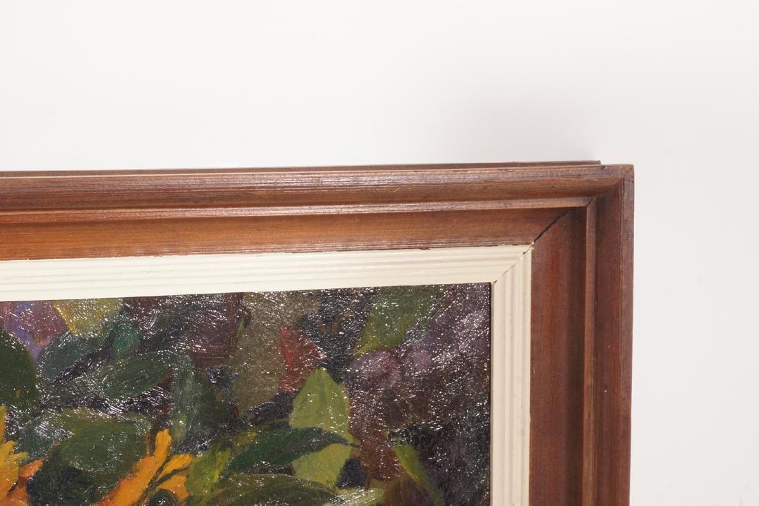 Impressionist Painting, Orange flowers in Vase - 5