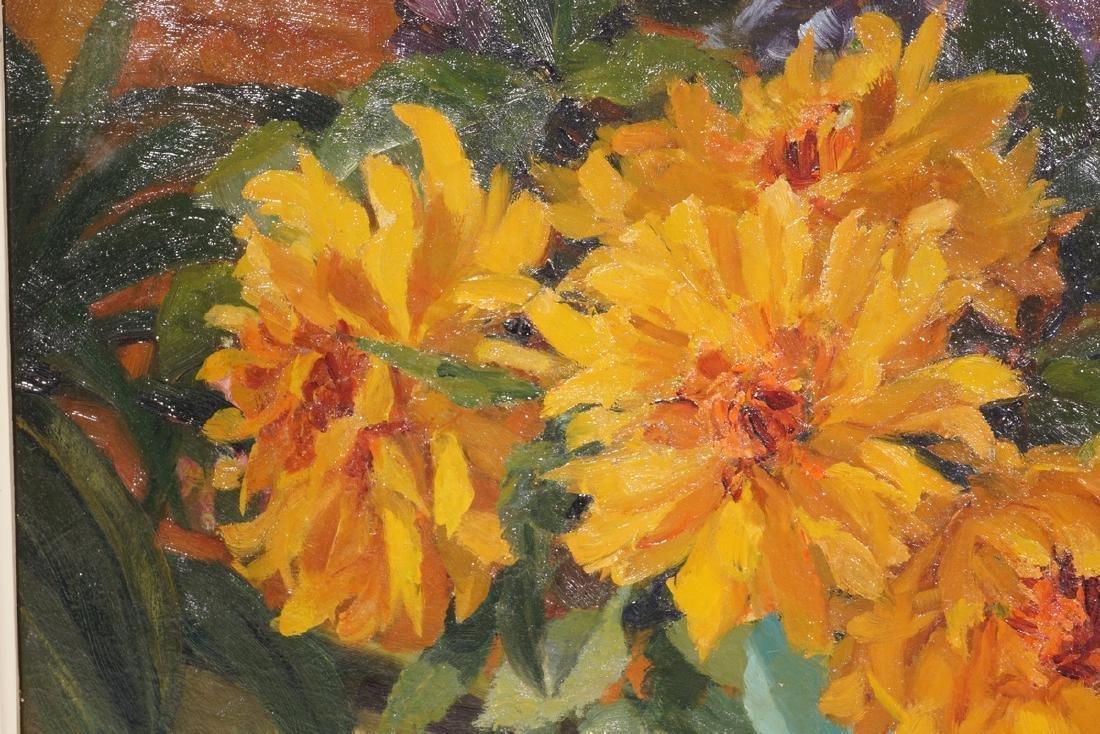 Impressionist Painting, Orange flowers in Vase - 6