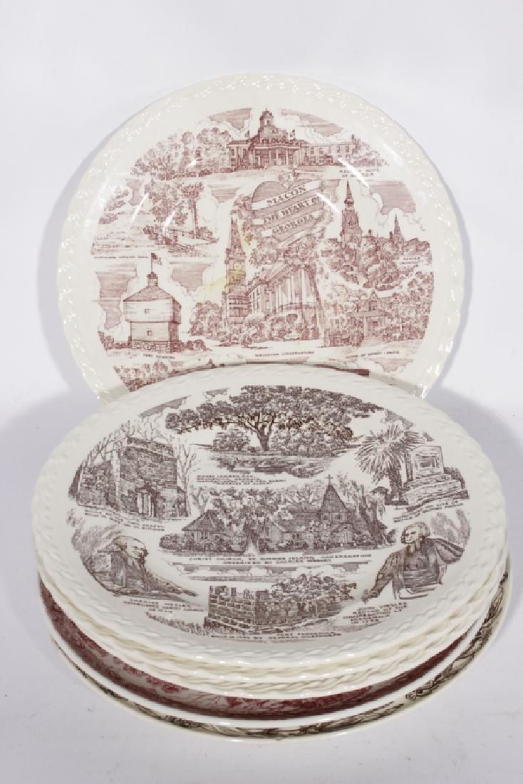 Set of Six Regional Commemorative Plates