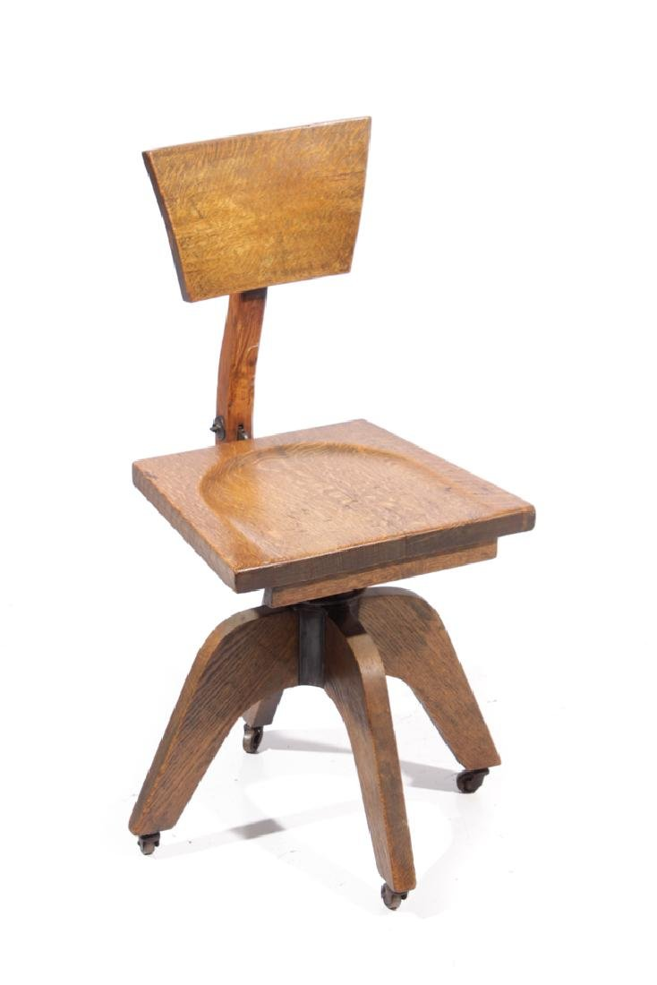 20th C Adjustable Desk Chair