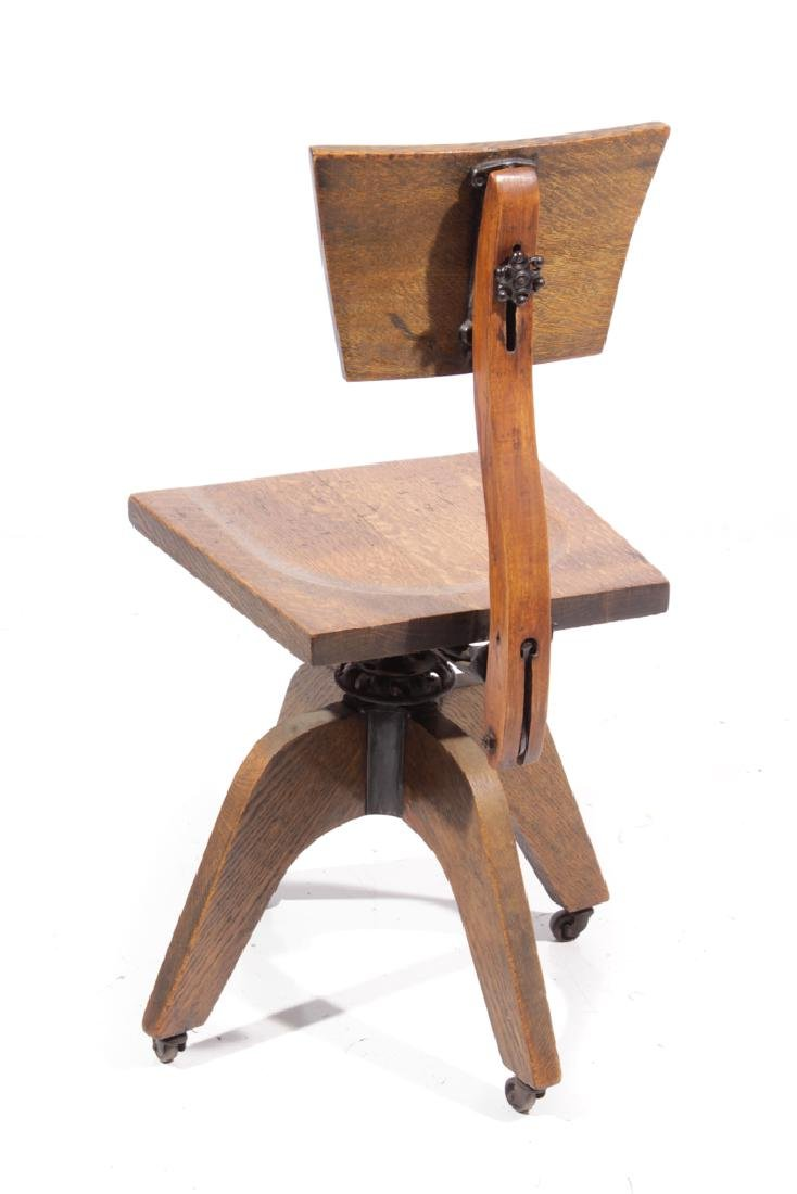 20th C Adjustable Desk Chair - 5