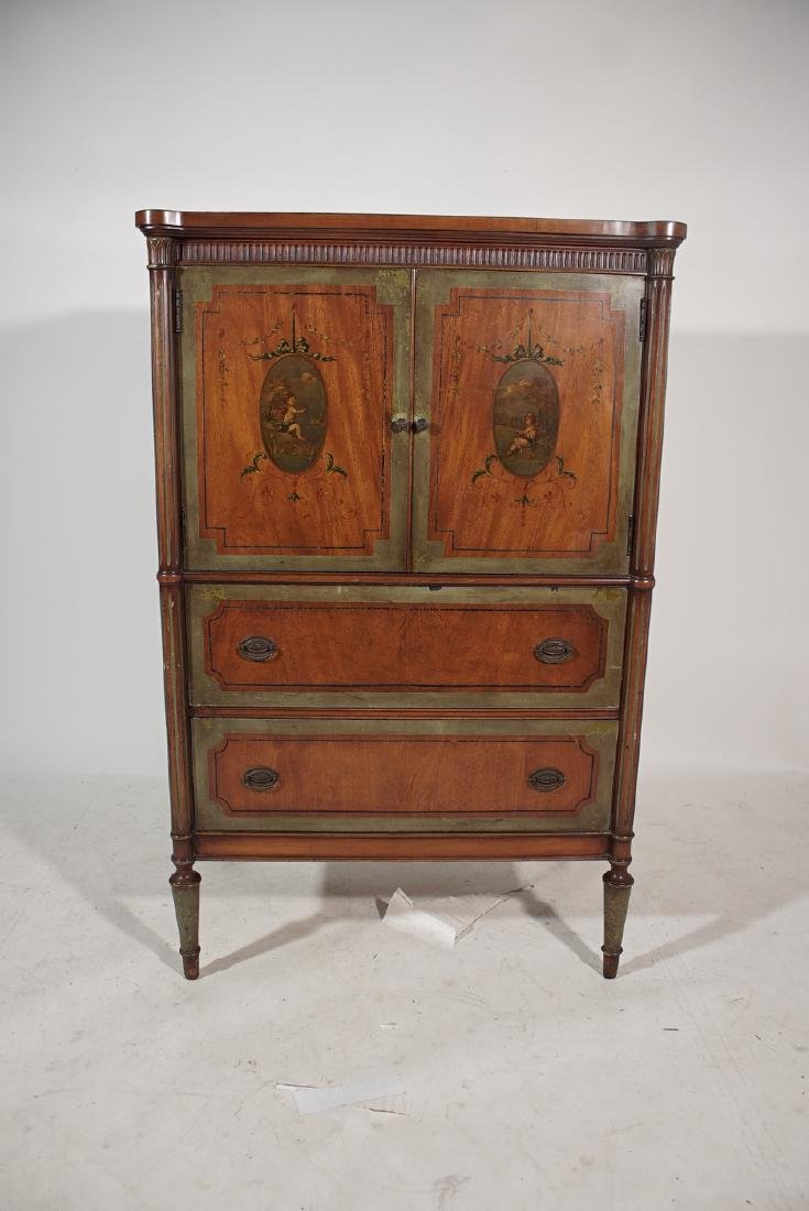 Louis XVI Style Painted Cabinet