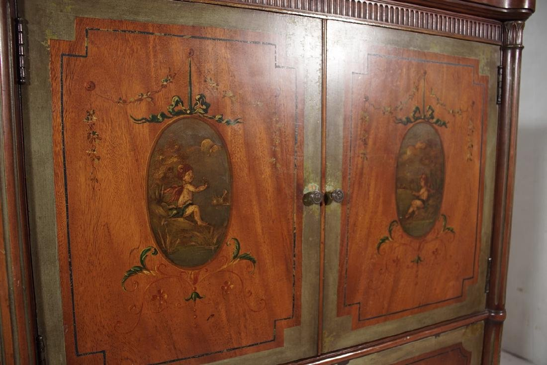 Louis XVI Style Painted Cabinet - 7
