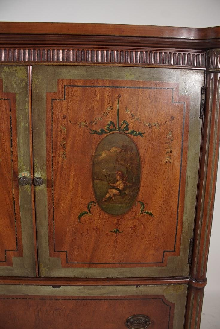 Louis XVI Style Painted Cabinet - 8