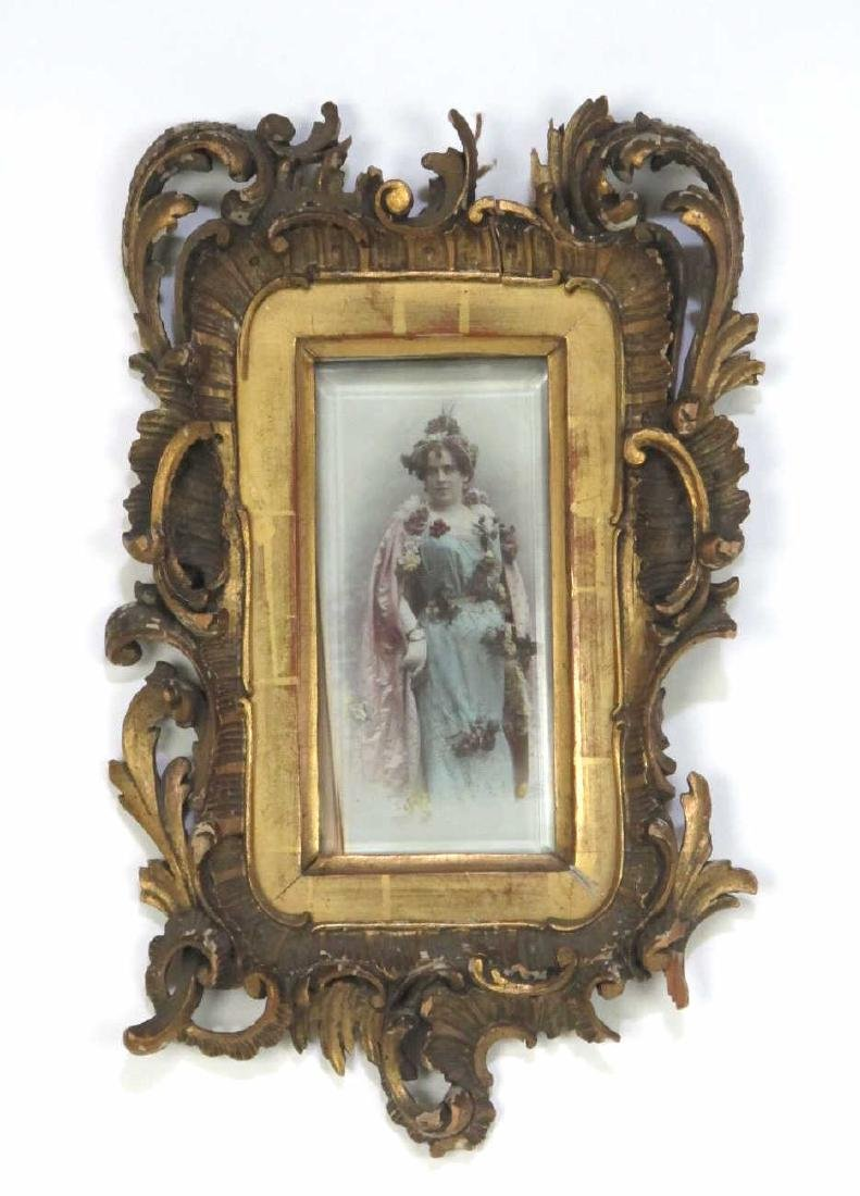 Framed Hand Colorized Antique Photograph