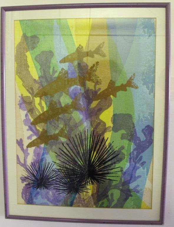 Tillett, Jim (American) Silkscreen Fish Swimming