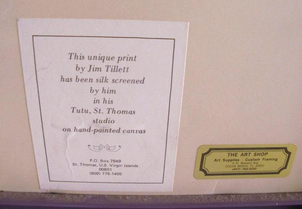 Tillett, Jim (American) Silkscreen Fish Swimming - 3
