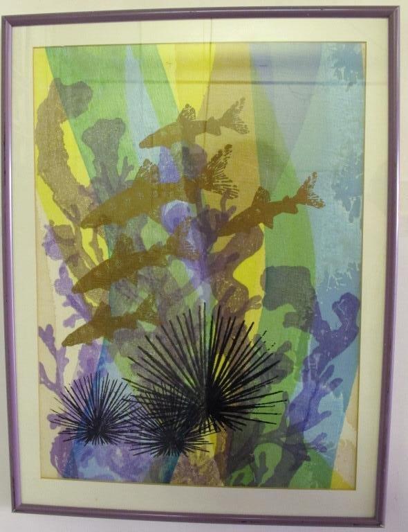 Tillett, Jim (American) Silkscreen Fish Swimming - 5