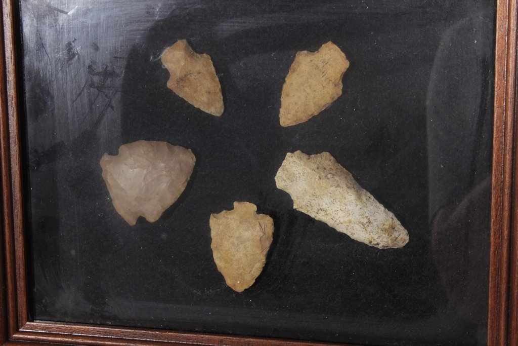 Miscellaneous Lot of 4 Framed Arrowheads - 4