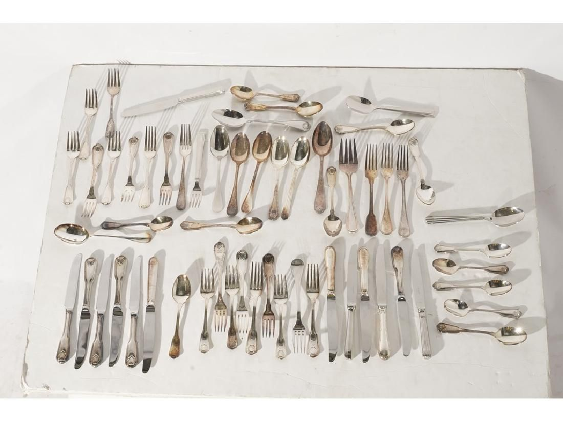 Large Group of Silver Plate Inc Christofle