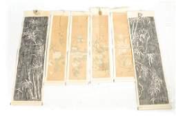 Lot of Six 6 Chinese Scrolls