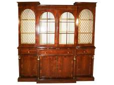 Regency Style Rosewood Breakfront Bookcase