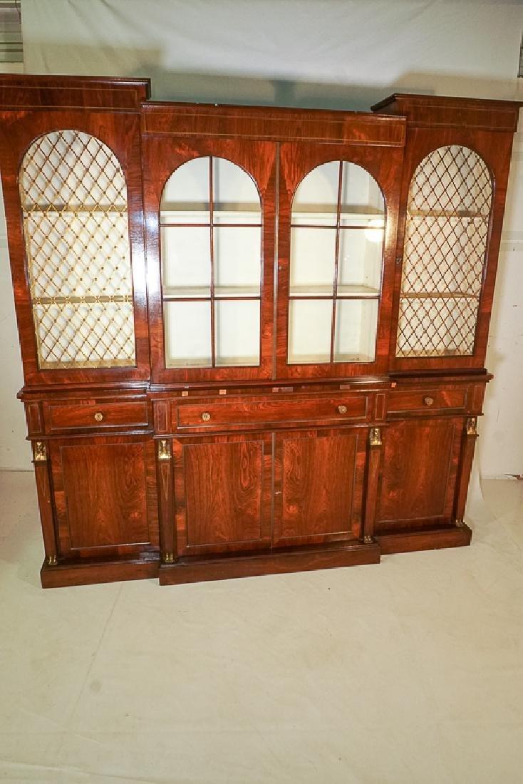 Regency Style Rosewood Breakfront Bookcase - 2