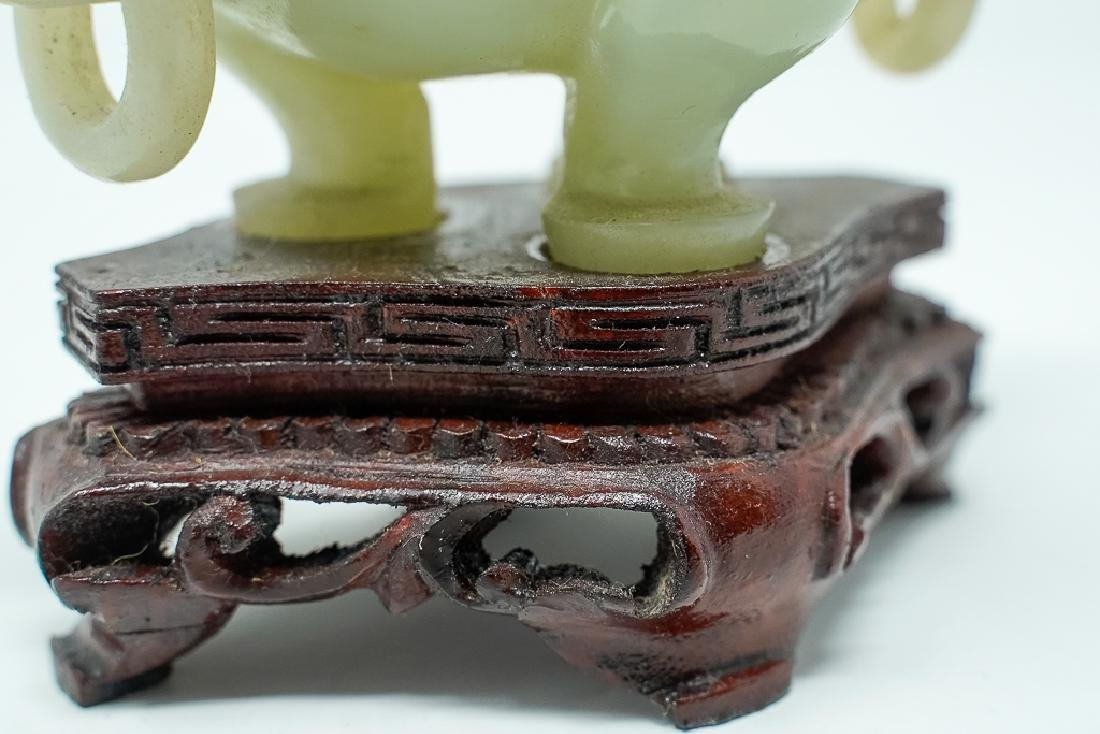 Finely Carved Chinese Jade Censer - 4