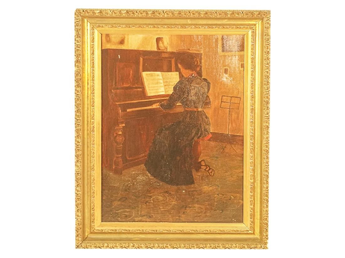 "20th C School, ""Woman at the Piano"""