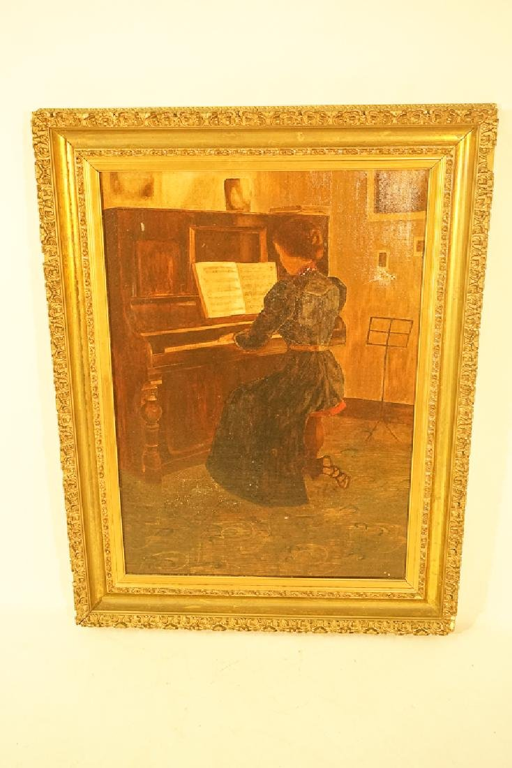 "20th C School, ""Woman at the Piano"" - 2"