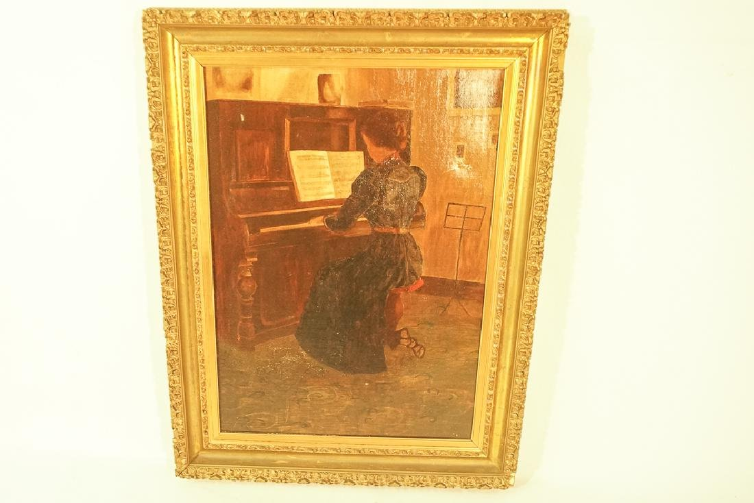 "20th C School, ""Woman at the Piano"" - 3"