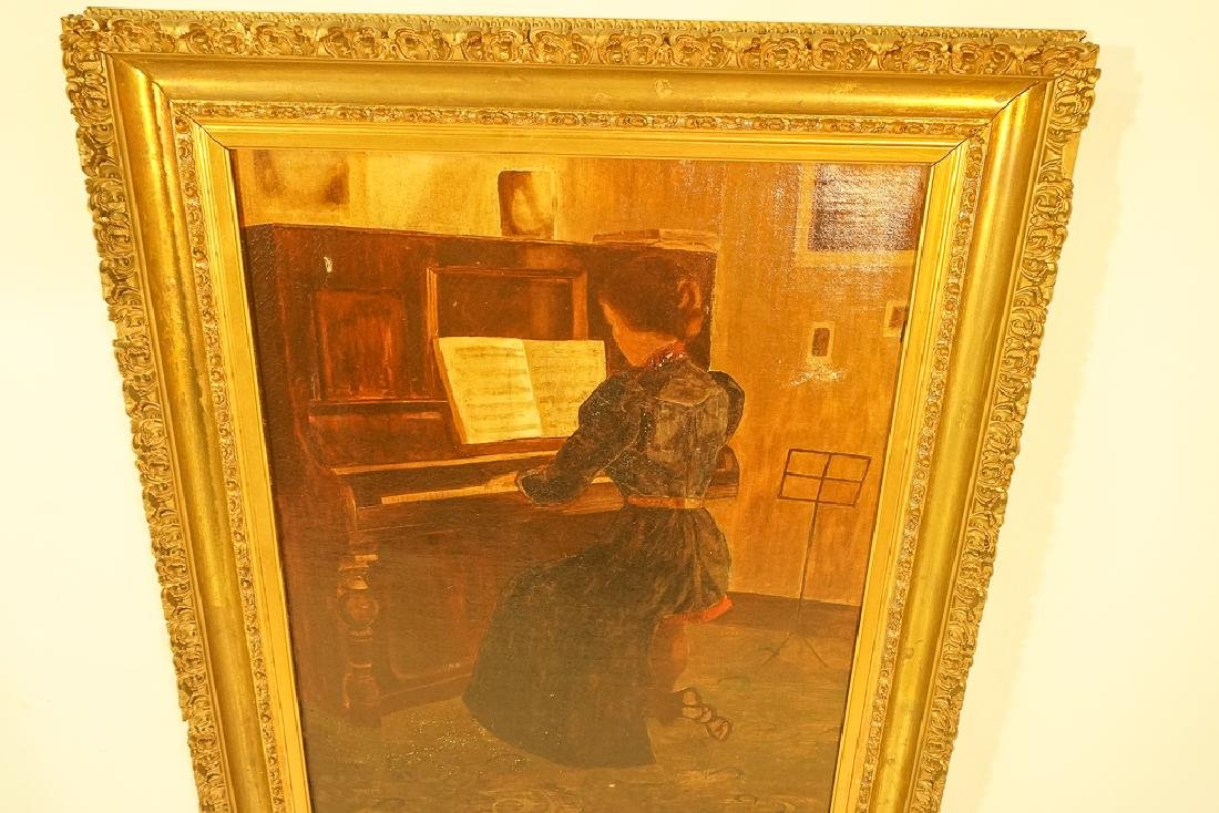 "20th C School, ""Woman at the Piano"" - 4"