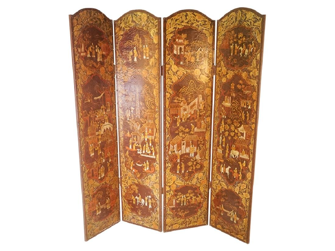 Chinese Decorative Four Panel Screen