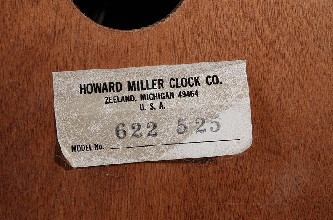 Monumental HOWARD MILLER Wall Clock - 8