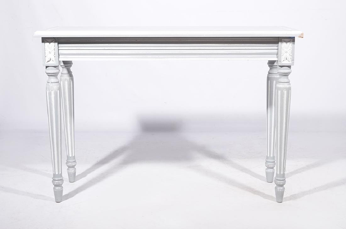 Louis XVI Style Painted Console - 8