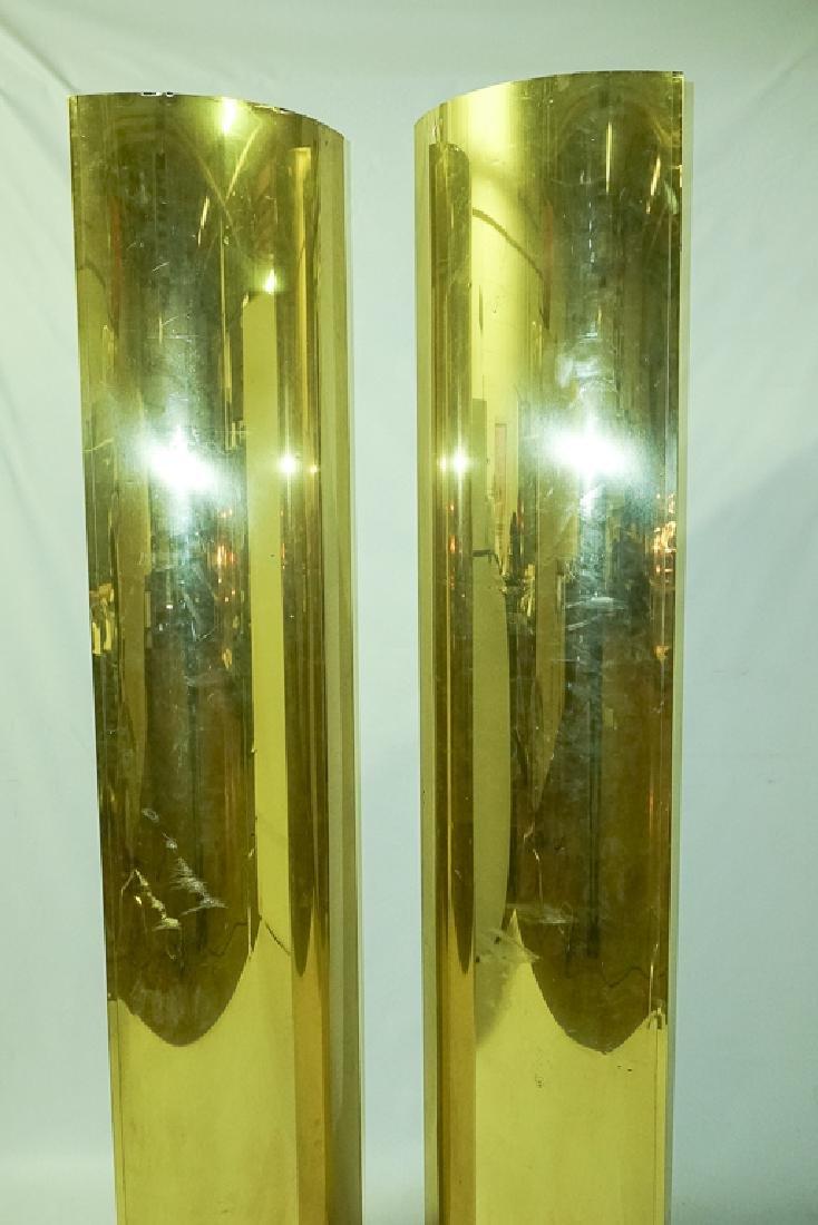 Pair Brass Clad Columns - 2