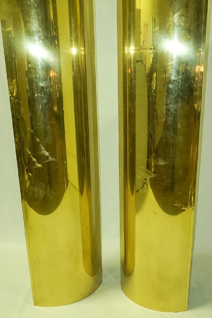 Pair Brass Clad Columns - 3