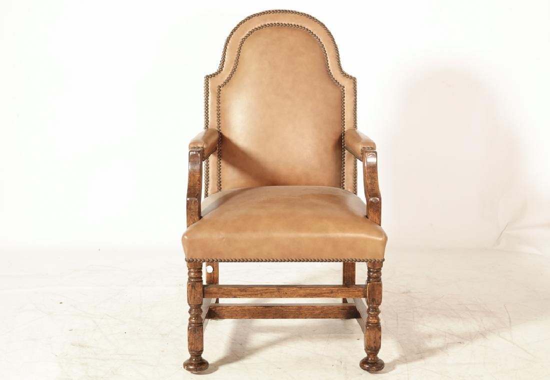 Set of Four W & M Style Leather Armchairs - 4