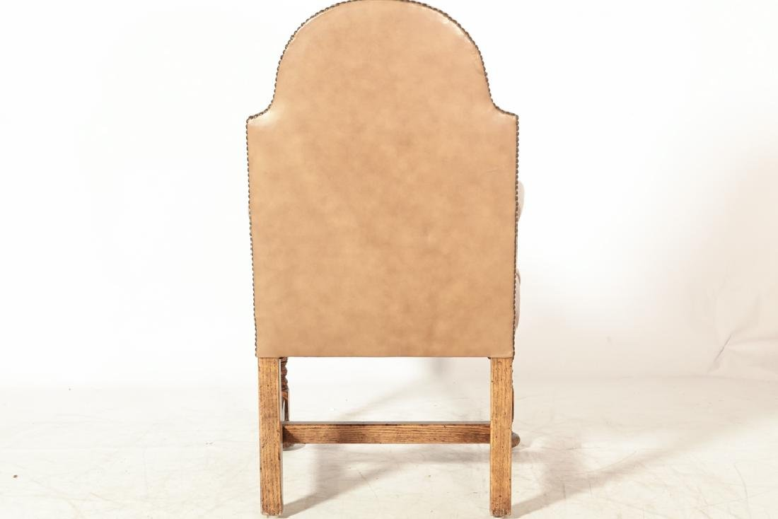 Set of Four W & M Style Leather Armchairs - 6