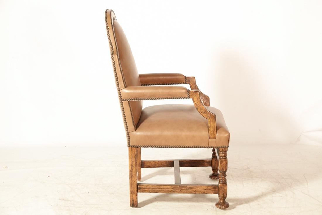 Set of Four W & M Style Leather Armchairs - 7