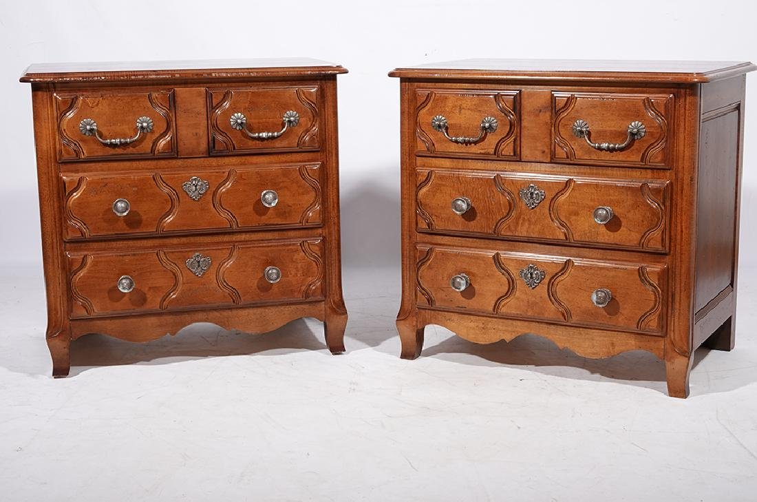 Pair of HENREDON Louis XV Style Bedside Chests - 7