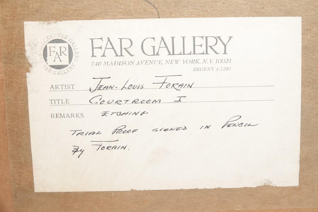 FORAIN, J. L. (Fr 1852 -1931) Courtroom I Etching - 9