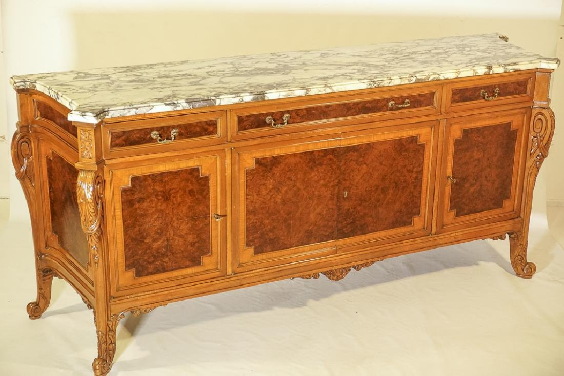 Monumental French Marble Top Server - 2