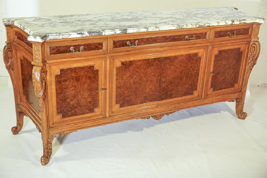 Monumental French Marble Top Server - 3