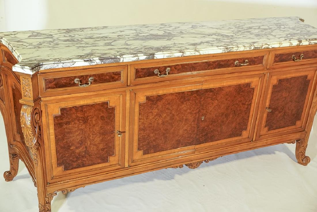 Monumental French Marble Top Server - 4