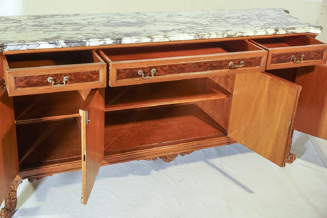 Monumental French Marble Top Server - 6