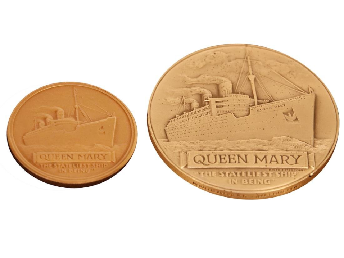 Two (2) QUEEN MARY Final Cruise Medals