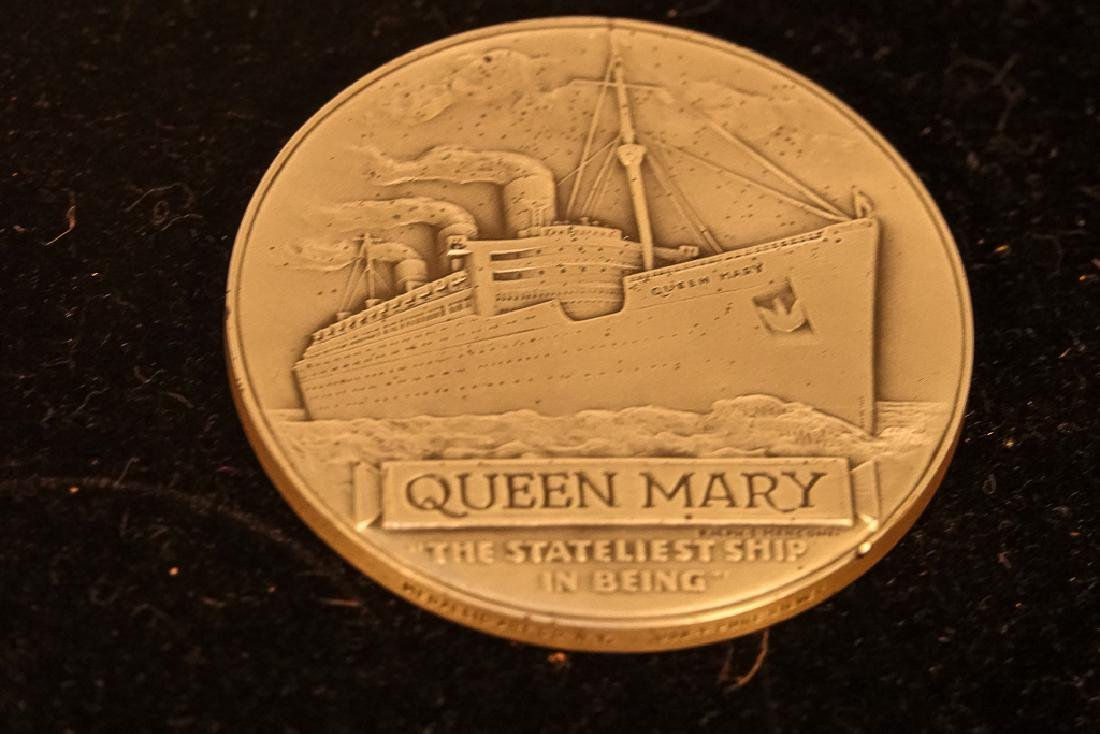 Two (2) QUEEN MARY Final Cruise Medals - 2