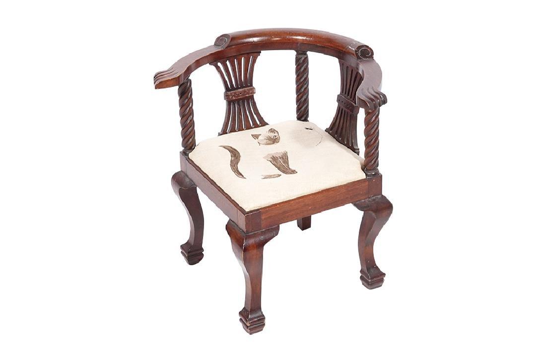 George III Style Miniature Corner Chair