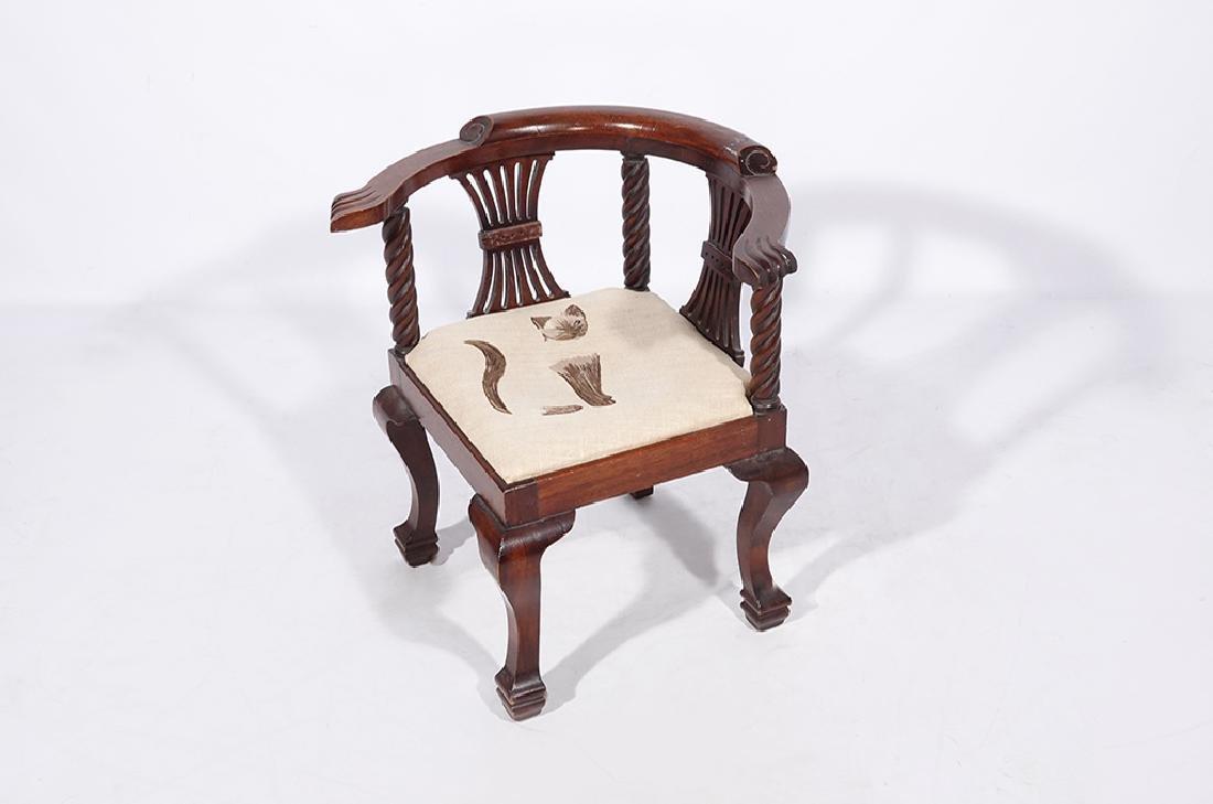 George III Style Miniature Corner Chair - 4
