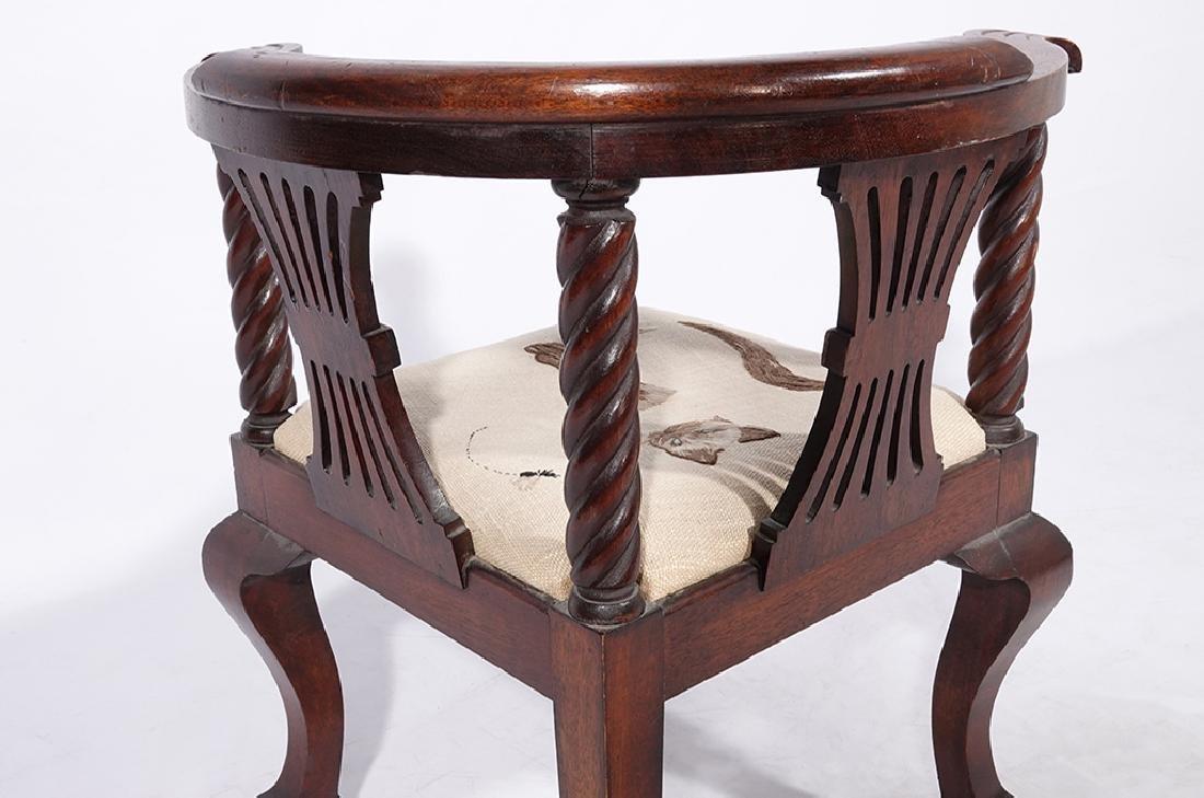 George III Style Miniature Corner Chair - 8