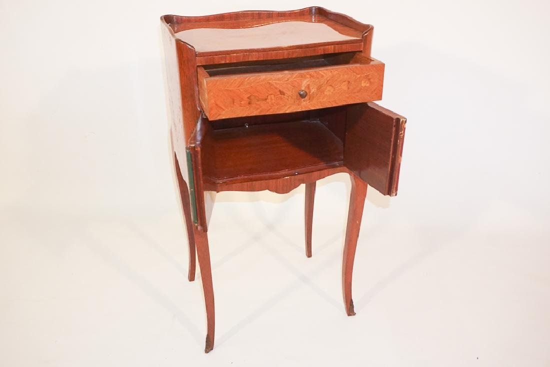 Diminutive French Marquetry Side Table - 2
