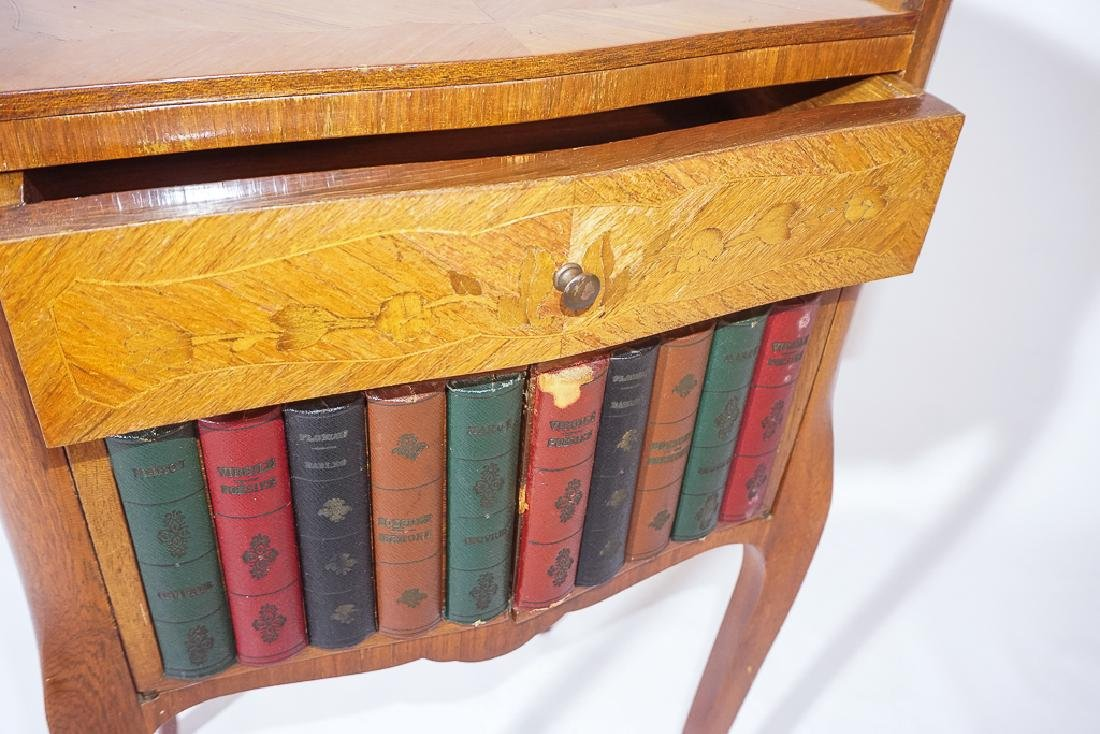 Diminutive French Marquetry Side Table - 3